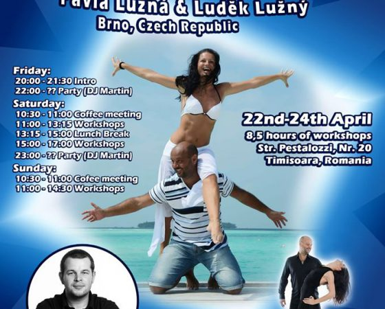 Ludek & Pavla Zouk workshops, 3rd event in Timisoara