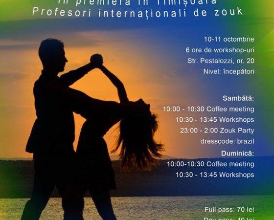 Guido & Mariana Zouk workshops, 1st event in Timisoara